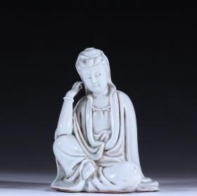 德化白瓷思维观音坐像