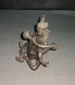 日本回流 铜佛像 欢喜佛 ,尺寸:高7.5cm,宽7.9cm;高4.5cm,宽6.6cm