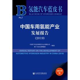 中国车用氢能产业发展报告(2019)/氢能汽车蓝皮书