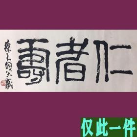 陈大羽书法字画  仁者寿