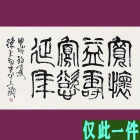 陈大羽书法字画  八言横幅