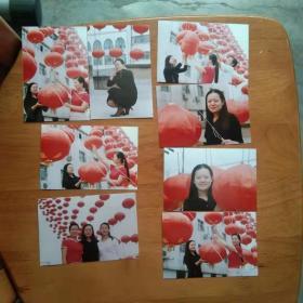 老照片 大红灯笼和美女8张