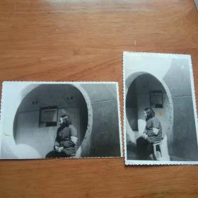 老照片 门卫2张