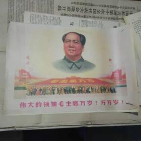 宣传画 伟大的领袖毛主席万岁.万万岁.(印刷品)