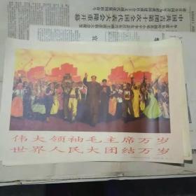 宣传画 伟大领袖毛主席万岁(印刷品)