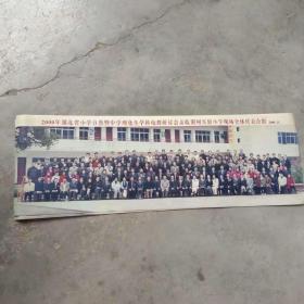 老照片 湖北省小学全体代表合影[1张.彩色照片]