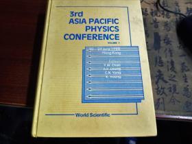 3rd asia pacific physics conference第三届亚太物理学会议(volume1)