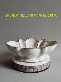 乡下收的宋代传世哥窑冰裂白瓷瓷笔洗