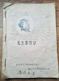 红卫兵司令部聊城农校1967年文革油印材料