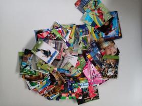 《足球俱乐部,足球世界,足球周刊》足球球星卡157张,详见图片