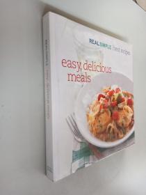 原版菜谱:easy,delicious  meals【12开精装彩图】
