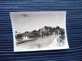 老照片17069-民国或五十年代-杭州西湖风景照-断桥残雪