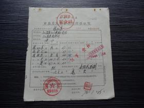 各种粮食转移证16776-江苏省江浦县-市镇居民粮食供应转移证明