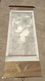名人字画;碑贴拓片葵未太岁魏仁大将军115厘米*68厘米卷轴装裱瓷轴头