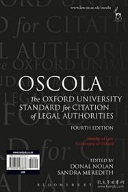 Oscola The Oxford University Standard For Citation Of Legal