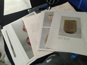 买满就送 外来陶艺 日本现藏著名茶碗 60个彩图,大开本书中撕下来的二十大张内页哦