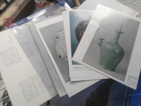 买满就送 外来陶艺 日本现藏陶磁名品    28个彩图  高丽青磁李朝白磁等   ,大开本书中撕下来的十四大张内页哦