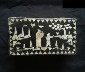 清代:镶嵌螺钿木盒
