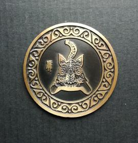 1998年,邮局发行,虎年大铜章!