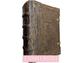 旧约新约圣书(明嘉靖33年   罗马文    鎏金书口    皮面金属饰物    木板插图198点     32开   1152页    1册全套)