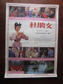 老电影海报:杜鹃女(黄梅戏,中央新闻记录电影制片厂摄制;二开)