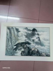 著名画家:卢星堂(精品山水画一副)看图保真