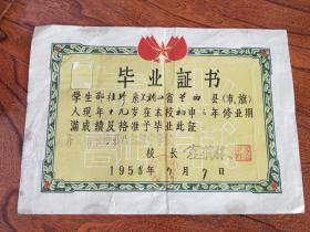 1958年毕业证书