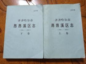 齐齐哈尔市昂昂溪区志1996-2005 送审稿 上下