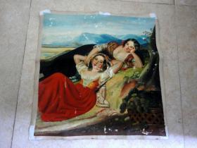 刚收到的老油画--48厘米*48厘米