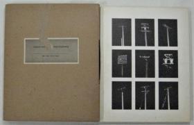 松岡桂吉写真集[場所]电线杆写真 1981年 写真照片18枚 MEDIA INFORMATION INC. 27×22cm