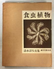 食虫植物 清水清写真集 诚文堂新光社 1966年 精装 153页