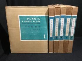 写真集植物 第一法规 1961年  本编6册+1册索引 附函7册全  亘理俊次