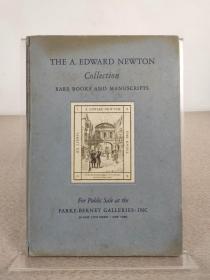 《The A. Edward Newton Collection Rare Books and Manuscripts》关于书的书,1941年出版,精装本,英文原版