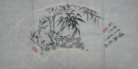 黄岩—陈冰心扇形竹石