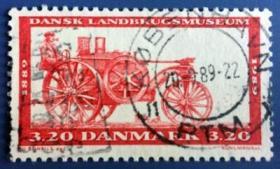 【丹麦邮票】1989年《农业博物馆-拖拉机》1全信销