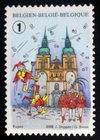 【比利时邮票】2008年《奥伊彭传统节日》1全新