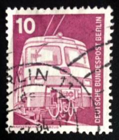 【西柏林邮票】1975年《工矿电力机车》1信销