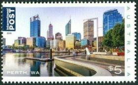 【澳大利亚邮票】2019年《美丽城市-珀斯》1全新MNH(高面值)