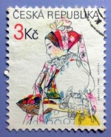 【捷克邮票】1996年《复活节》1全信销
