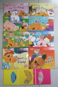 洪恩国际幼儿英语·家庭版(全8册)含1歌曲CD+2DVD光盘