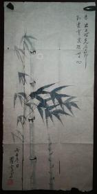 画家翟云老师手绘花鸟(画片7.)尺寸68公分×33公分