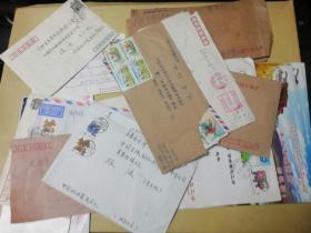 信札+机票+贺卡-来自中国驻坦桑尼亚大使馆、驻芬兰大使馆等地(给同一人共计20件合售,信封内都有信件)