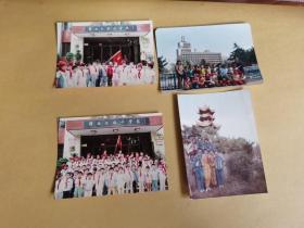 长春市朝阳区解放大路小学校,少先队员合影等 (80-90年代彩色老照片,4张合售)