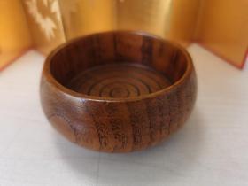 日本茶道具:实木一木挖茶托、杯托 ,木质纹理漂亮