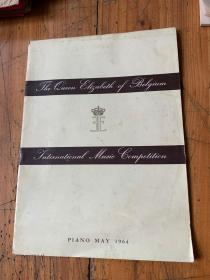5914: the queen elizabeth of belgium international music competition  MAY 1964  比利时伊丽莎白女王国际音乐钢琴比赛