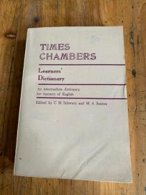 5738:TIMES CHAMBERS learners' dictionary 泰晤士钱伯斯学生词典