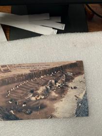 578:民国日本明信片《别府温泉  砂石埋身  别府名所 海岸砂汤の实况》2张 罕见