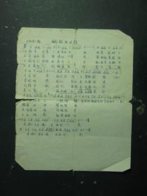 张天东抄写的歌曲1张 航标兵之歌(55546)