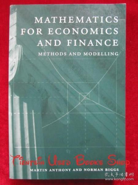 MathematicsforEconomicsandFinance:MethodsandModelling