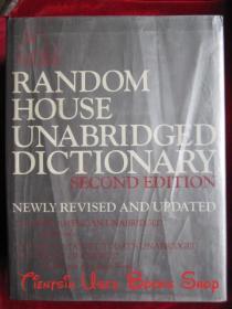 Random House Unabridged Dictionary(Second Edition, newly revised and updated)兰登书屋未删节词典(第2版,全新修订和更新;英语原版 精装本)